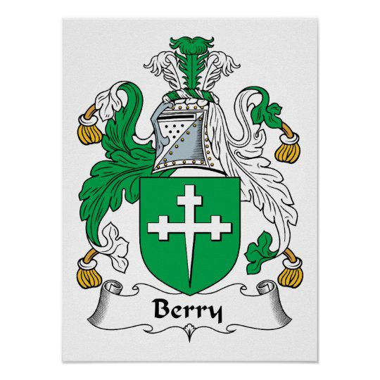 Berry Family Crest Poster