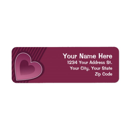 Berry Hearts Return Address Label