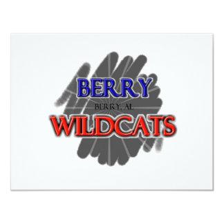 Berry High School Wildcats - Berry, AL 11 Cm X 14 Cm Invitation Card