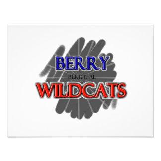 Berry High School Wildcats - Berry, AL Custom Invitations