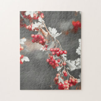 berry in autumn on tree jigsaw puzzle