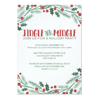 Berry Jingle and Mingle Holiday Party Invitations