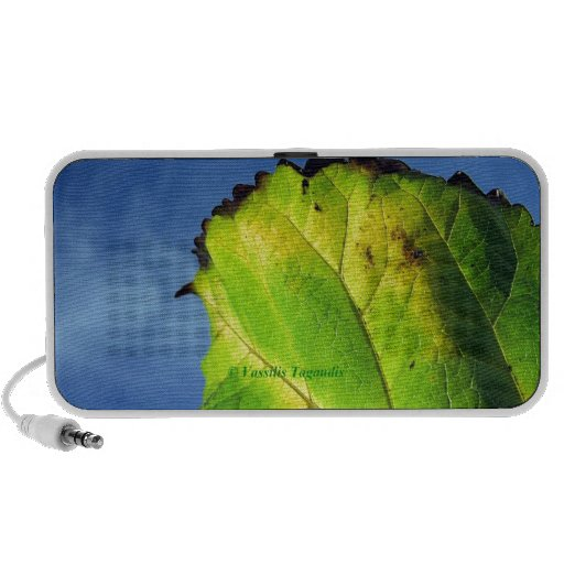 Berry leaf and Autumn colors. Mini Speakers