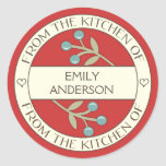 Berry Lovely From the Kitchen of Label | Red Round Sticker