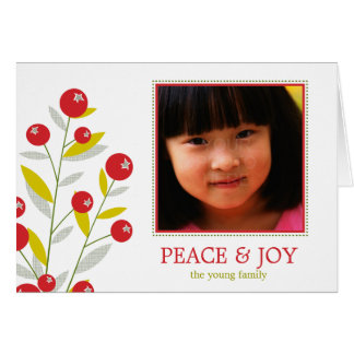 Berry Merry Christmas Holiday Card Cards