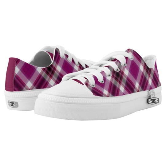 Berry Plaid Low Top Sneakers