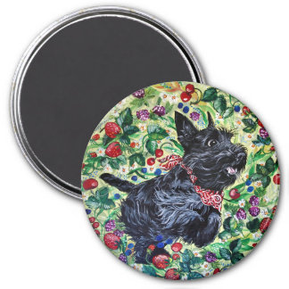 Berry Scottish Terrier! 7.5 Cm Round Magnet