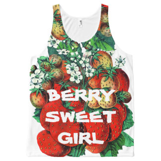 Berry sweet girl All-Over print tank top