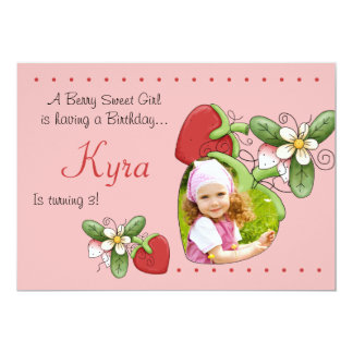 Berry Sweet - Photo Birthday Party  Invitation