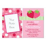 Berry Sweet Strawberry Photo Birthday Invitations 13cm X 18cm Invitation Card