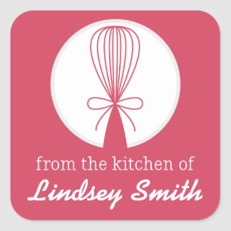 Berry Whisk Silhouette Kitchen Labels