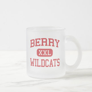 Berry - Wildcats - High School - Berry Alabama Frosted Glass Coffee Mug