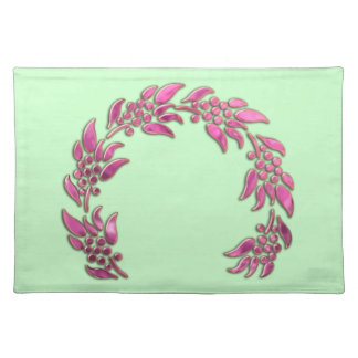 Berry Wreath on Any Color Background Placemat