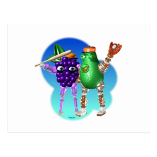 BerryBot AvocadoBot FUDEBOTS by Valxart Postcard