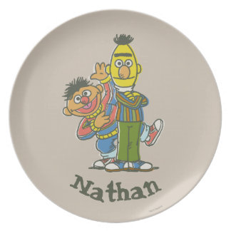 Bert and Ernie Classic Style | Add Your Name Dinner Plate