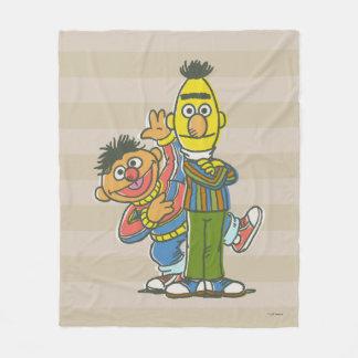 Bert and Ernie Classic Style Fleece Blanket