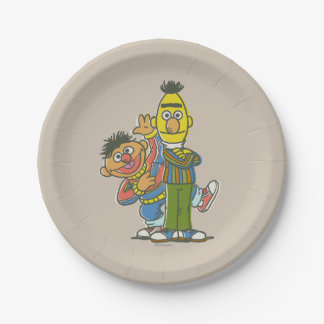 Bert and Ernie Classic Style Paper Plate