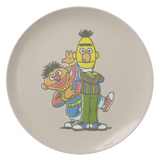 Bert and Ernie Classic Style Plates