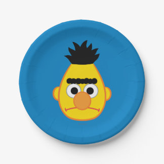 Bert Angry Face 7 Inch Paper Plate