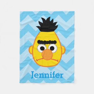 Bert Angry Face | Add Your Name Fleece Blanket