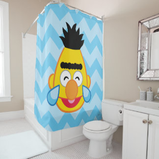 Bert Face with Tears of Joy Shower Curtain