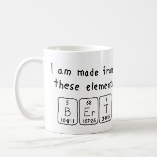 Bert periodic table name mug