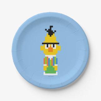 Bert Pixel Art 7 Inch Paper Plate