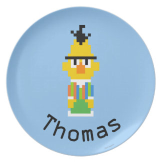 Bert Pixel Art   Add Your Name Party Plates