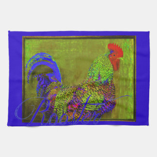 Bert the Rooster Kitchen Towel Retro Rooster