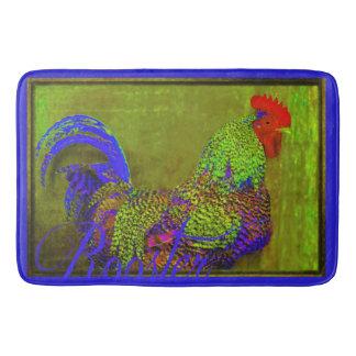 Bert the Rooster Retro Bath Mat