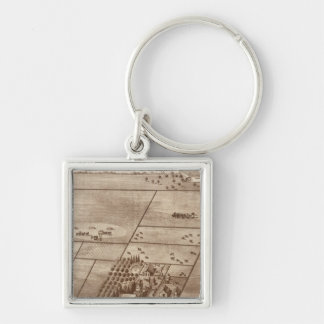 Bertch ranch Silver-Colored square key ring