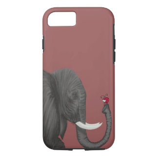 Bertha The Elephant And Her Visitor iPhone 7 Case