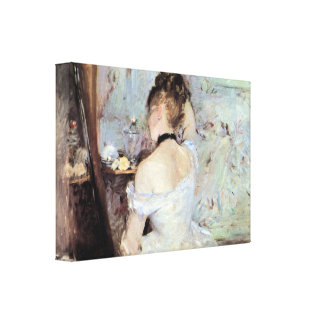 Berthe Morisot - Lady in the Toilet Stretched Canvas Print