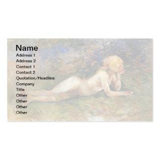 Berthe Morisot - The Reclining Sherperdess Pack Of Standard Business Cards