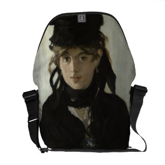 Berthe Morisot with a Bouquet of Violets by Manet Messenger Bags