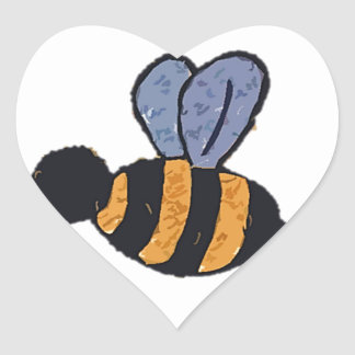 Bertie Bumble Heart Sticker