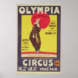 Bertram Mills circus poster