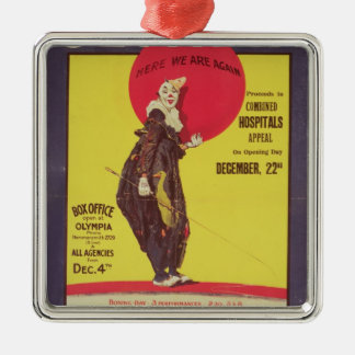 Bertram Mills circus poster Christmas Ornament