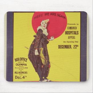 Bertram Mills circus poster Mouse Mat
