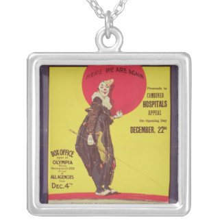Bertram Mills circus poster Silver Plated Necklace