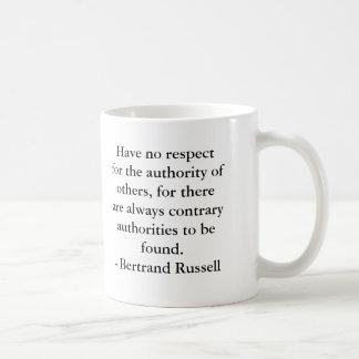 Bertrand Russell - Authority Coffee Mug