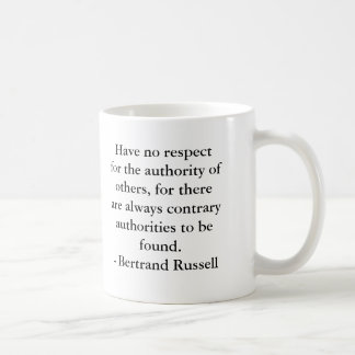 Bertrand Russell - Authority Mug