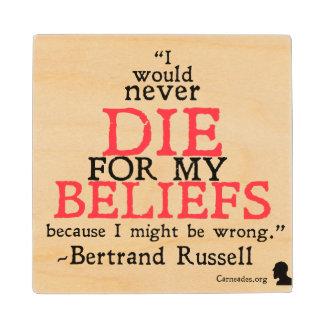Bertrand Russell Drink Coaster Wood Coaster