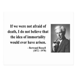 Bertrand Russell Quote 1b Postcard