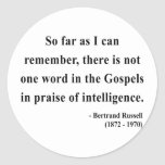 Bertrand Russell Quote 2a Round Sticker