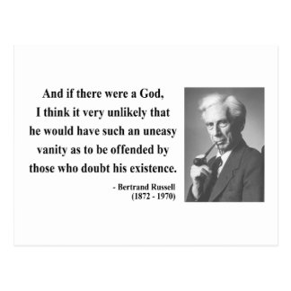 Bertrand Russell Quote 3b Postcard
