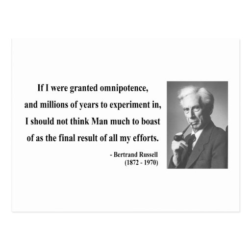 Bertrand Russell Quote 4b Post Card