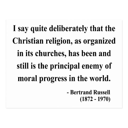 Bertrand Russell Quote 5a Postcard