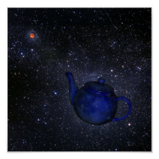 Bertrand Russell's Famous Celestial Teapot Poster