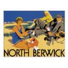 Berwick, Scotland Vintage travel  poster Postcard